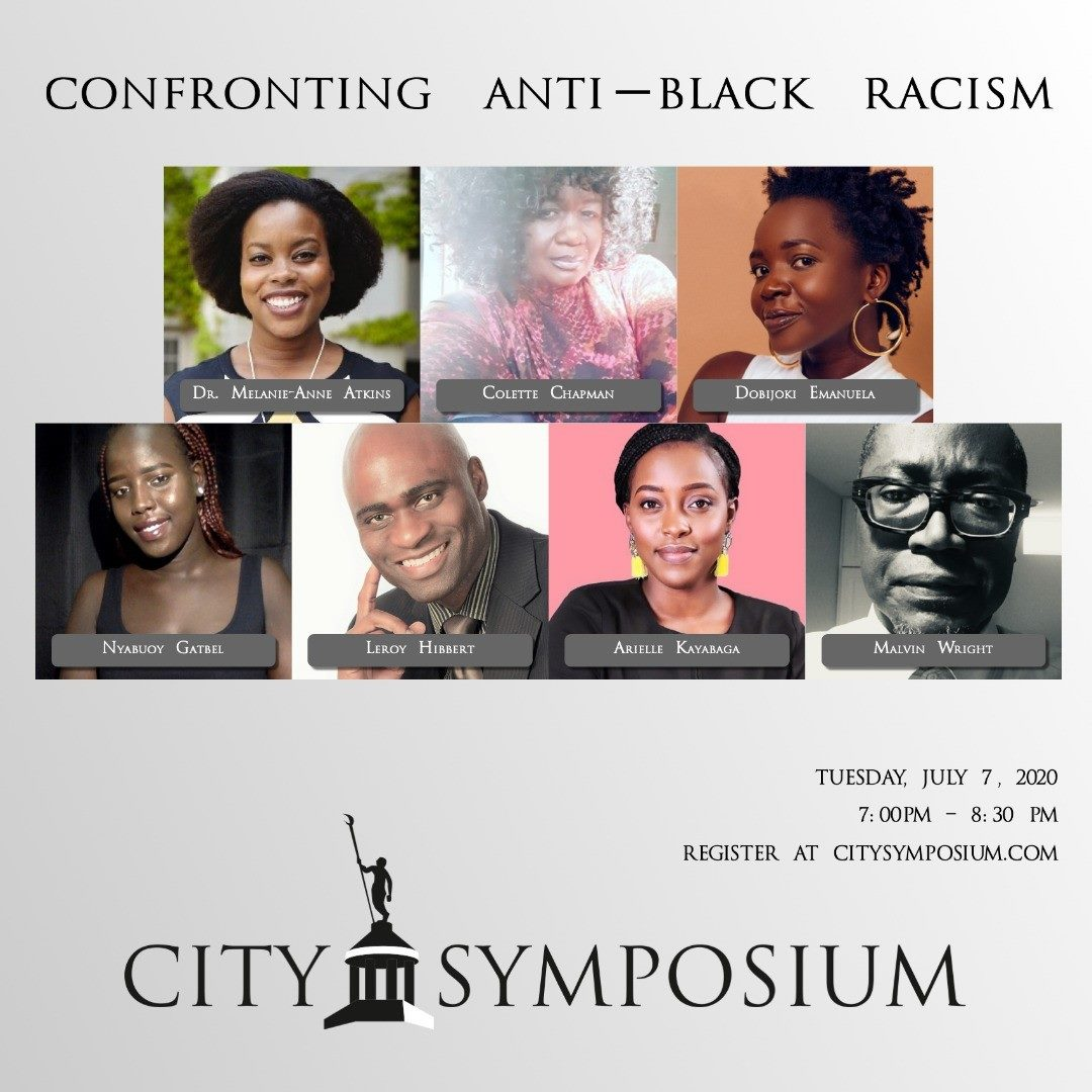 """The topic for the July 7 event is """"Confronting Anti-Black Racism.""""."""