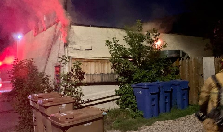 Regina restaurant the Hunter Gatherer caught on fire Wednesday, which caused significant damage to the building.