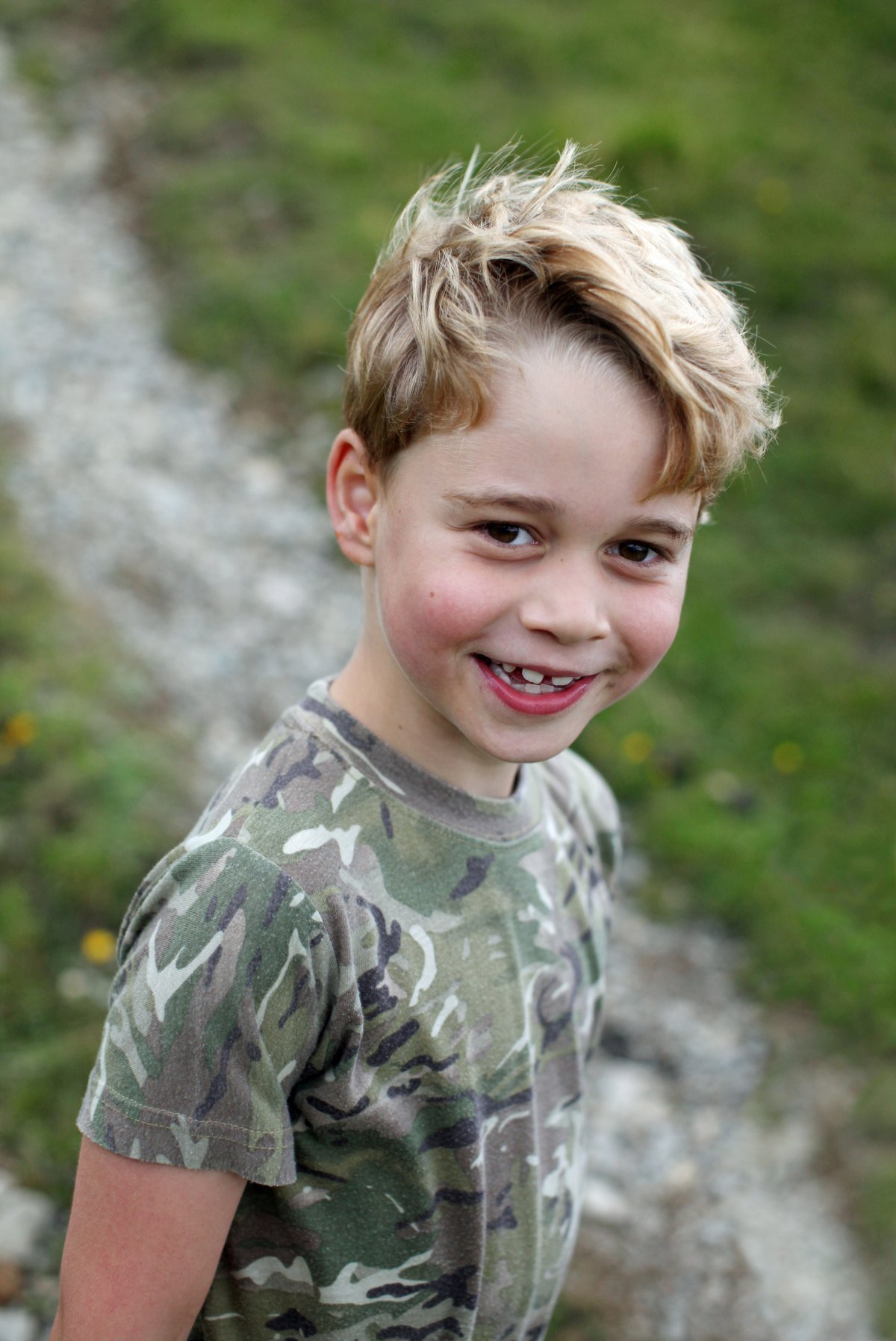 Britain's Prince George, whose seventh birthday is on Wednesday, is seen in this picture taken by his mother, the Duchess of Cambridge, earlier this month and released July 21, 2020.