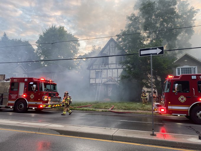 Crews were called to the scene at 1240 Richmond St., north of Raymond Avenue, just before 6 a.m. on July 13.