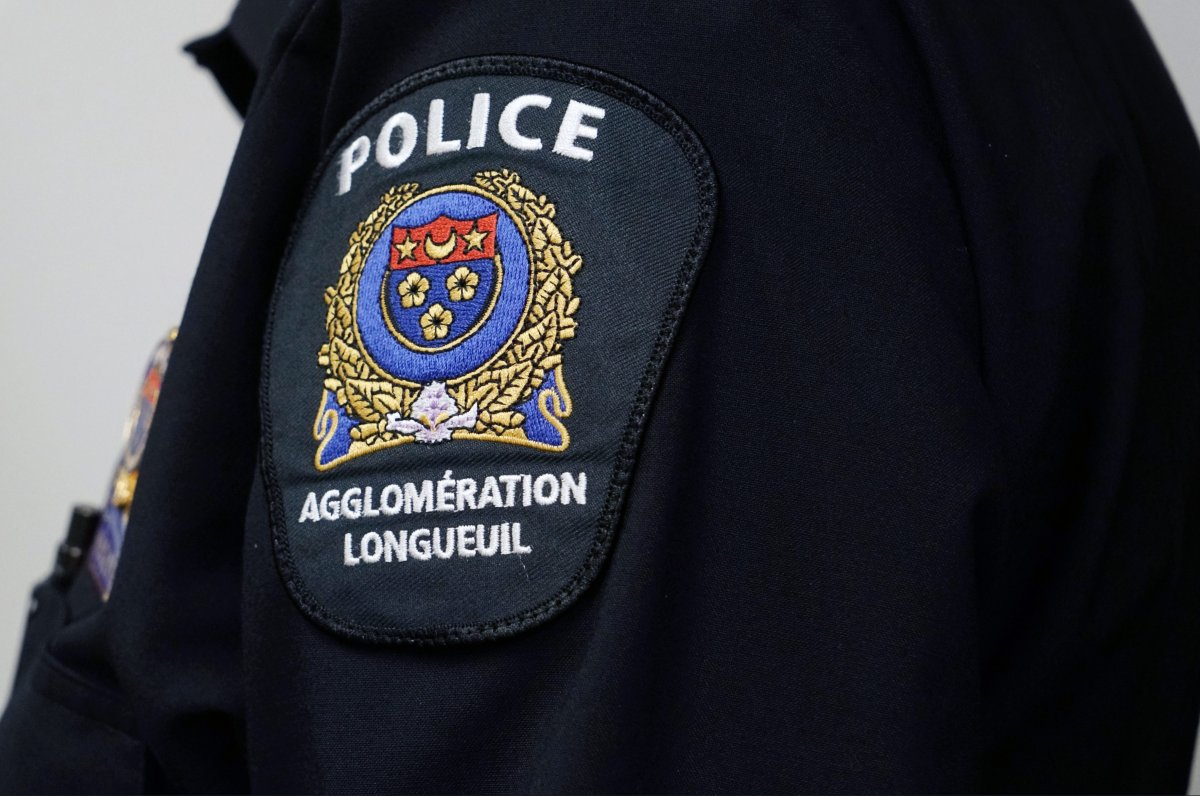 Close-up of a Longueuil police insignia in Longueuil, Que., February 15, 2019.