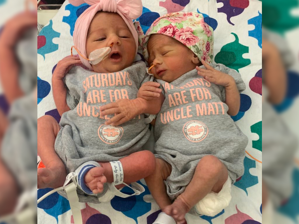 On June 30, Emma Anderson's sudden case of preeclampsia forced her to deliver early, welcoming Hadley and Olivia one minute apart.