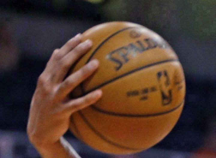 A file photo of a basketball is shown.
