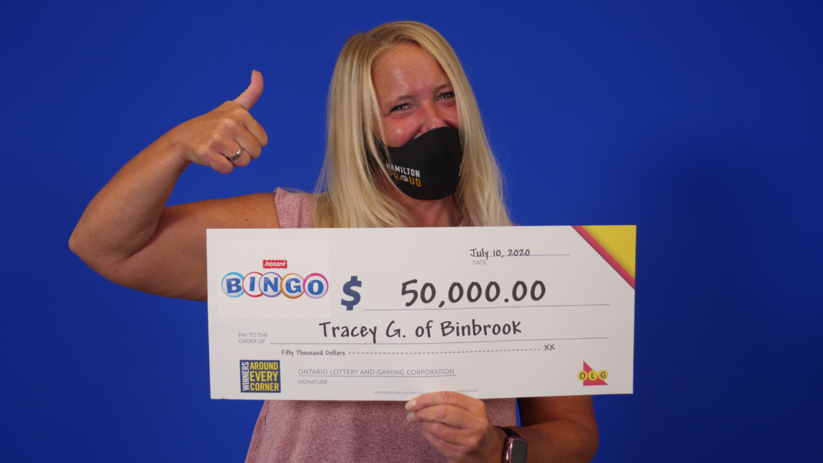 46-year old restaurant manager Tracey Gilchrist from Binbrook won $50K from the OLG.