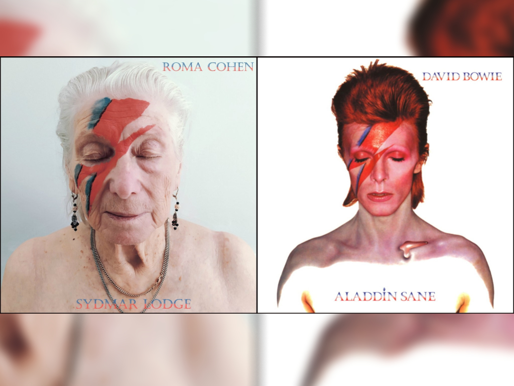 Robert Speker, activities co-ordinator at a U.K. nursing home, helped residents recreate some of their favourite album covers.