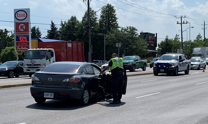 The collision happened near the intersection of Dufferin Street and Steeles Avenue West Tuesday afternoon.