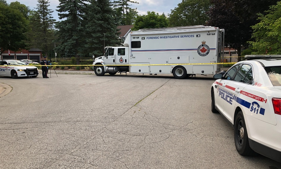 The shooting happened on Woodview Drive Monday evening.