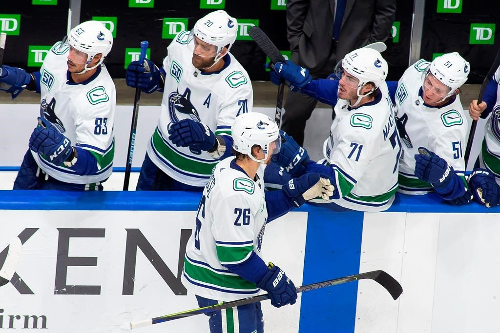 The Vancouver Canucks have won Game 6 against the St. Louis Blues.THE CANADIAN PRESS/Codie McLachlan.