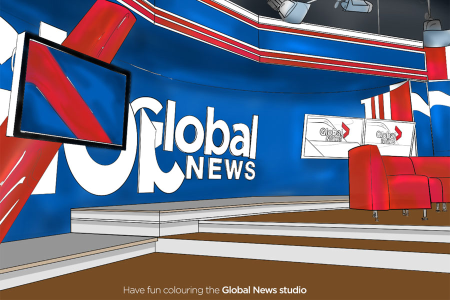 Global News Colouring Pages - image