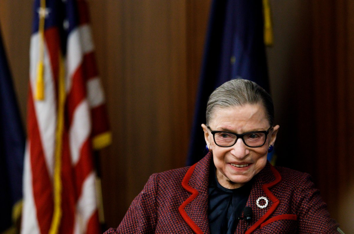 United States Supreme Court Justice Ruth Bader Ginsburg attends an event at New York Law School in New York, New York, Feb. 6, 2018   .