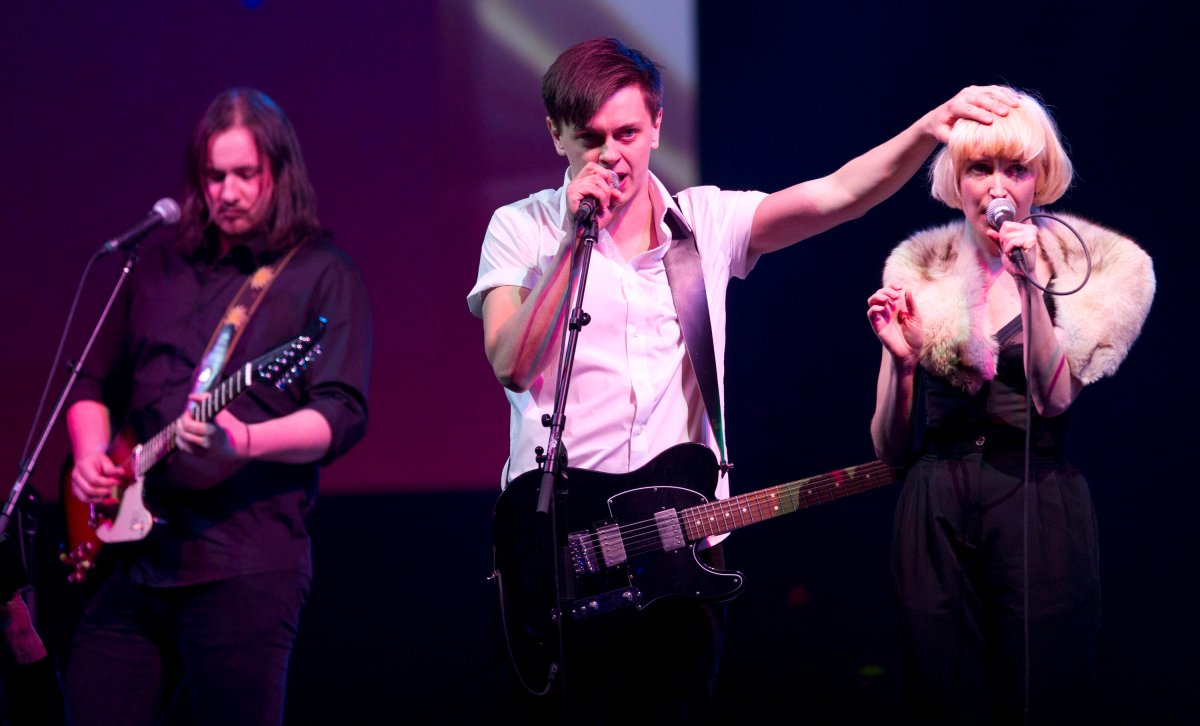 July Talk perform during the Juno Gala in Winnipeg on Saturday, March 29, 2014.