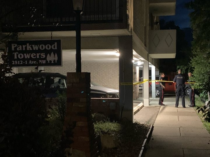 Calgary Police Service officers were at the scene of a shooting Friday night in the 2500 block of 1st Avenue Northwest.