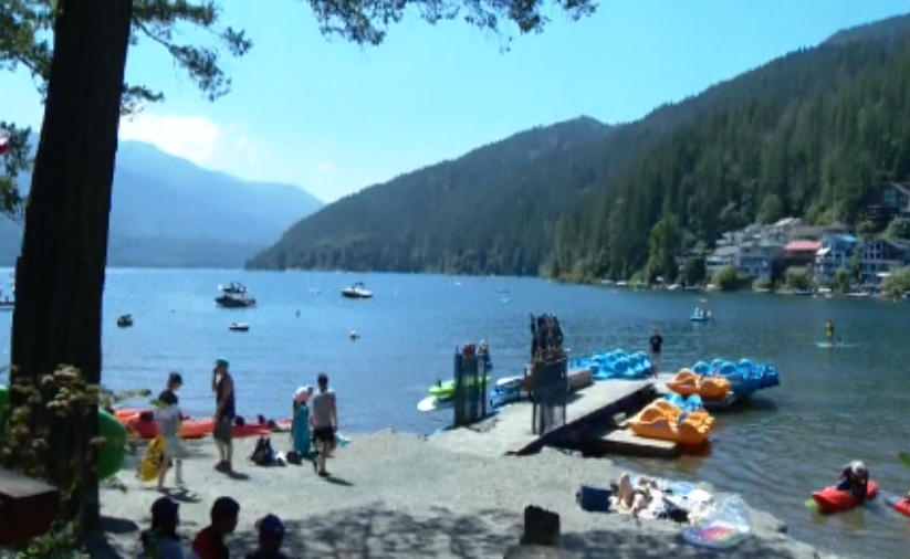 People cool off at Cultus Lake in Chilliwack on Saturday.