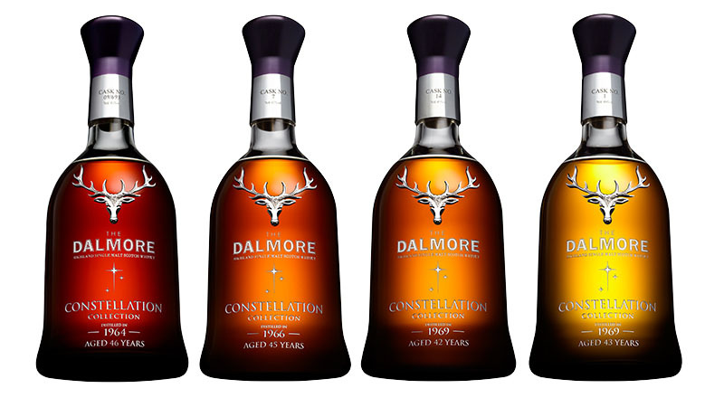 The Dalmore Constellation Collection - THE 60s Set, featuring four of the world's rarest single malt whiskies.
