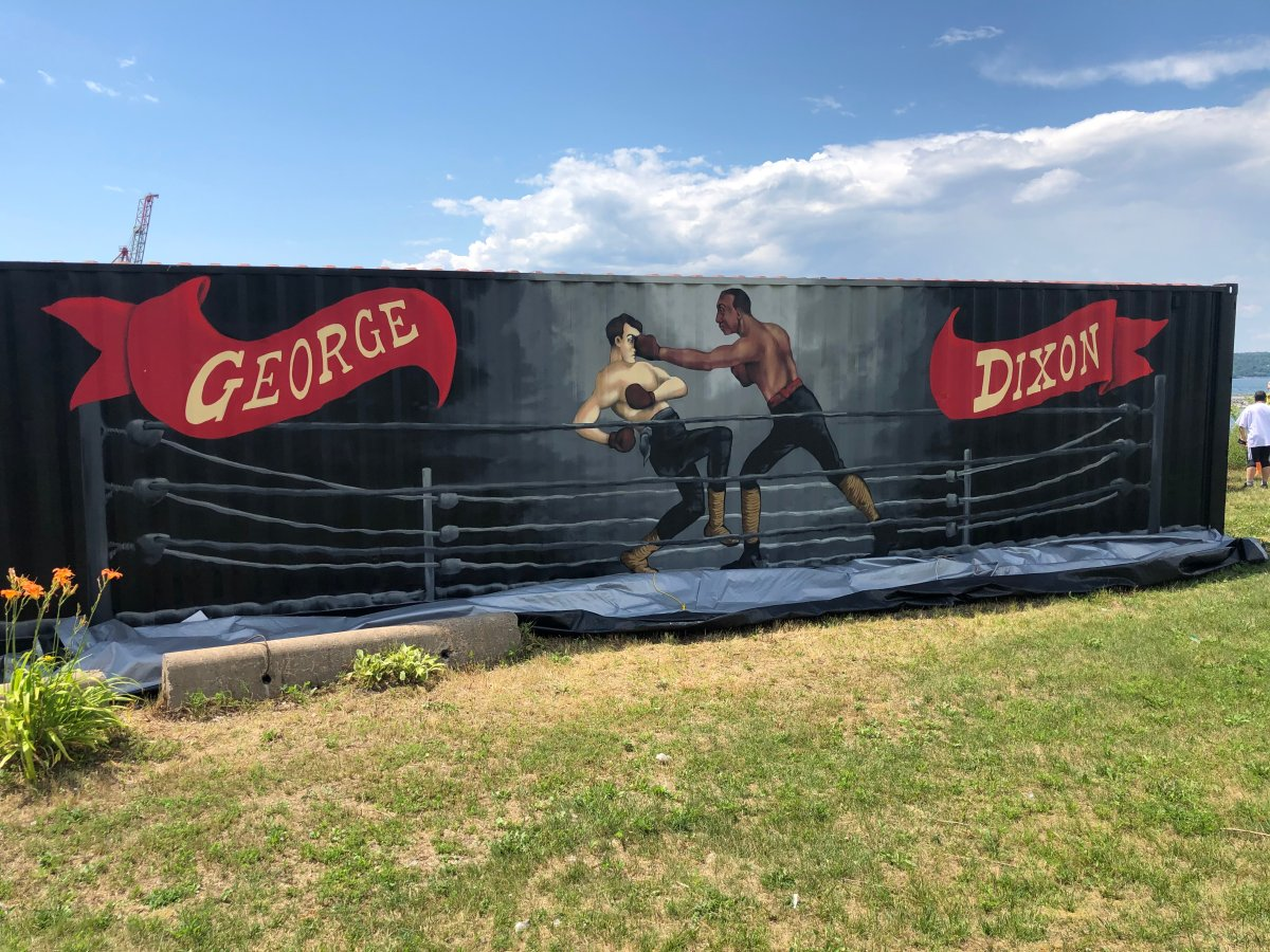 The George Dixon mural in Africville in Halifax, N.S.