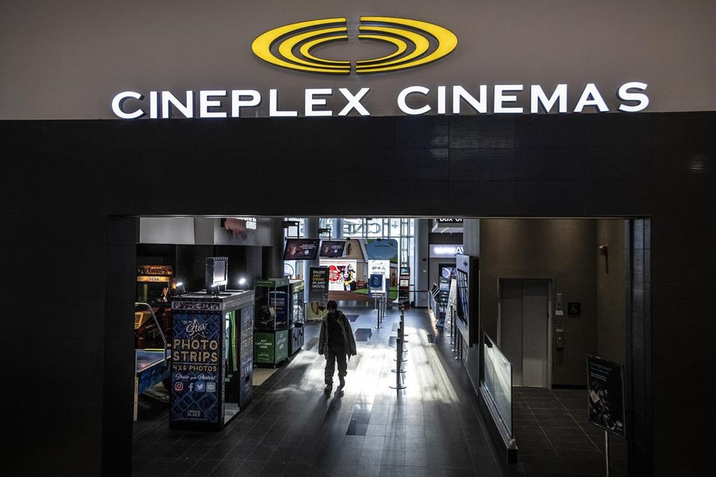 Cineplex Odeon Theater at Yonge and Eglinton in Toronto on Monday December 16, 2019. Cineplex Inc. has filed a lawsuit against its former U.K.-based suitor Cineworld PLC, seeking damages that far exceed the $2.18 billion price tag of its failed acquisition. THE CANADIAN PRESS/Aaron Vincent Elkaim.