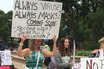 edmonton anti mask rally july 19 1