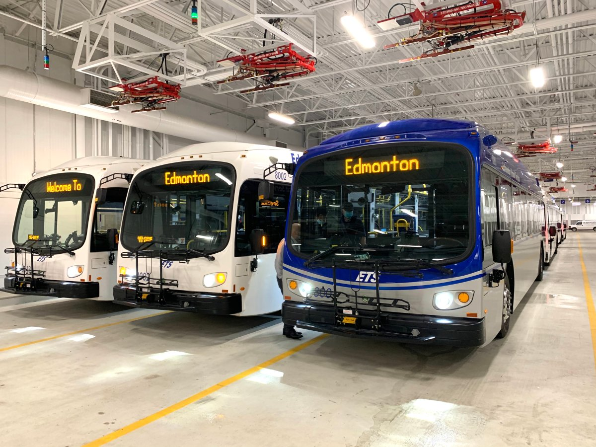 The City of Edmonton has acquired 21 electric-battery buses for public transport.