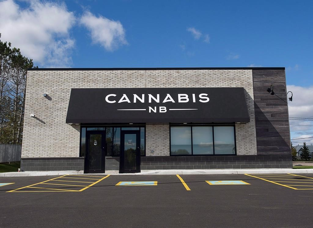 New Brunswick's government-owned cannabis retailer is reporting a profit of 1.4 million dollars during it's first quarter this year. A Cannabis NB store in Sackville, N.B. is seen on Oct. 14, 2018. THE CANADIAN PRESS/Andrew Vaughan.
