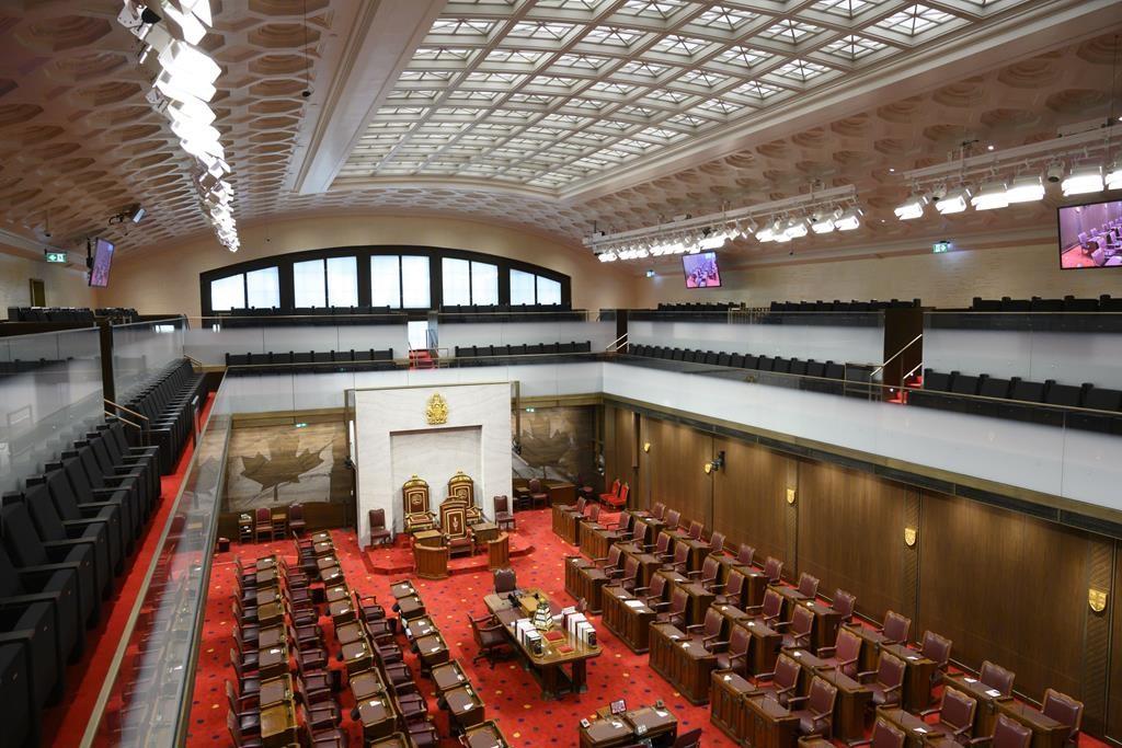The Senate of Canada building and Senate Chamber are pictured in Ottawa on Monday, Feb. 18, 2019. CANADIAN PRESS/Sean Kilpatrick.