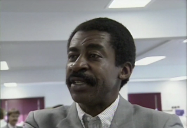 A screenshot of an interview with George Elroy Boyd.