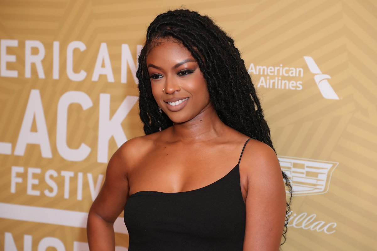 Javicia Leslie attends American Black Film Festival Honors Awards Ceremony at The Beverly Hilton Hotel on Feb. 23, 2020 in Beverly Hills, Calif.