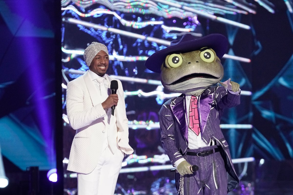 'The Masked Singer' host Nick Cannon and The Frog in the all-new 'Couldn't Mask for Anything More: The Grand Finale!' season finale episode.