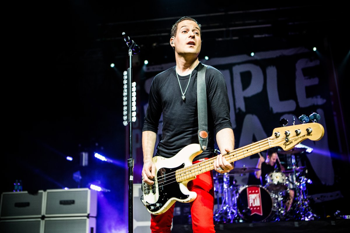 David Desrosiers of the French-Canadian rock band Simple Plan  live at Alcatraz.