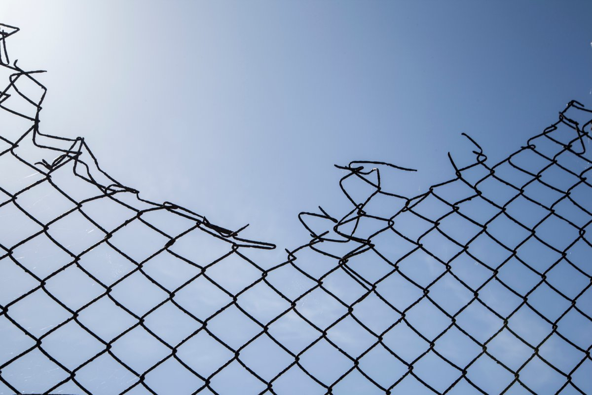 A man in his 50s reportedly escaped from his isolation hotel, cutting through a 1.8-metre fence to go to a liquor store.