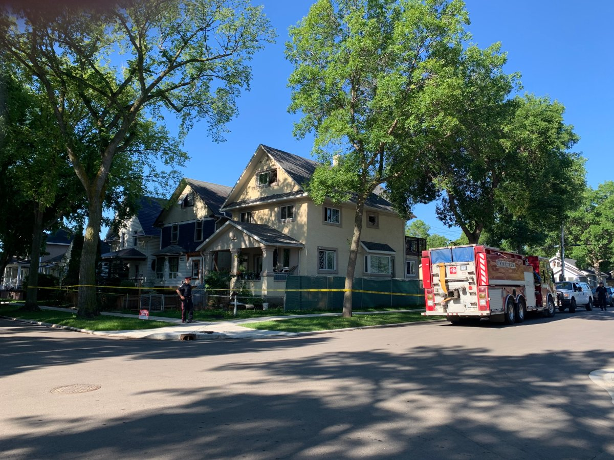Edmonton fire crews were called to a house explosion in the area of 112 Avenue and 91 Street Monday, July 20, 2020.