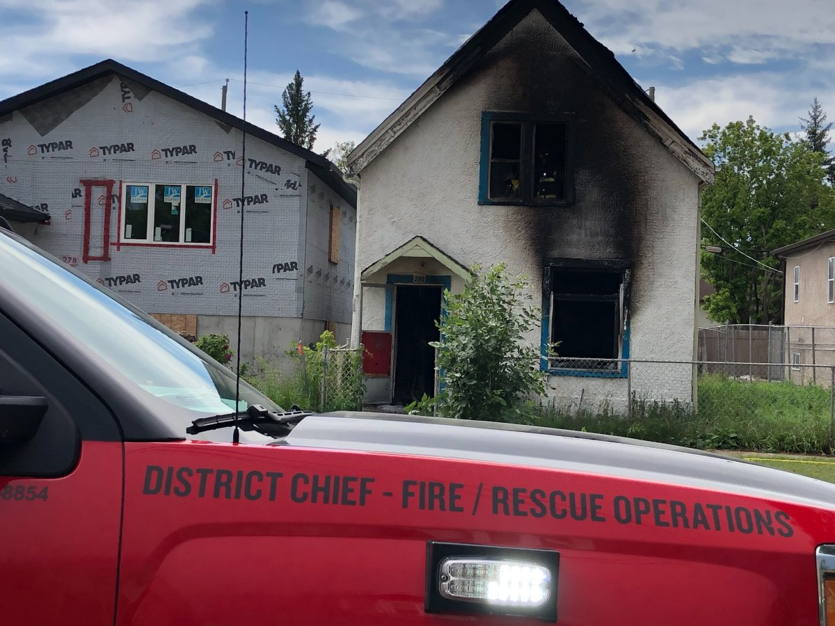 Fire crews were called to a fire at a home on Redwood Avenue Friday.