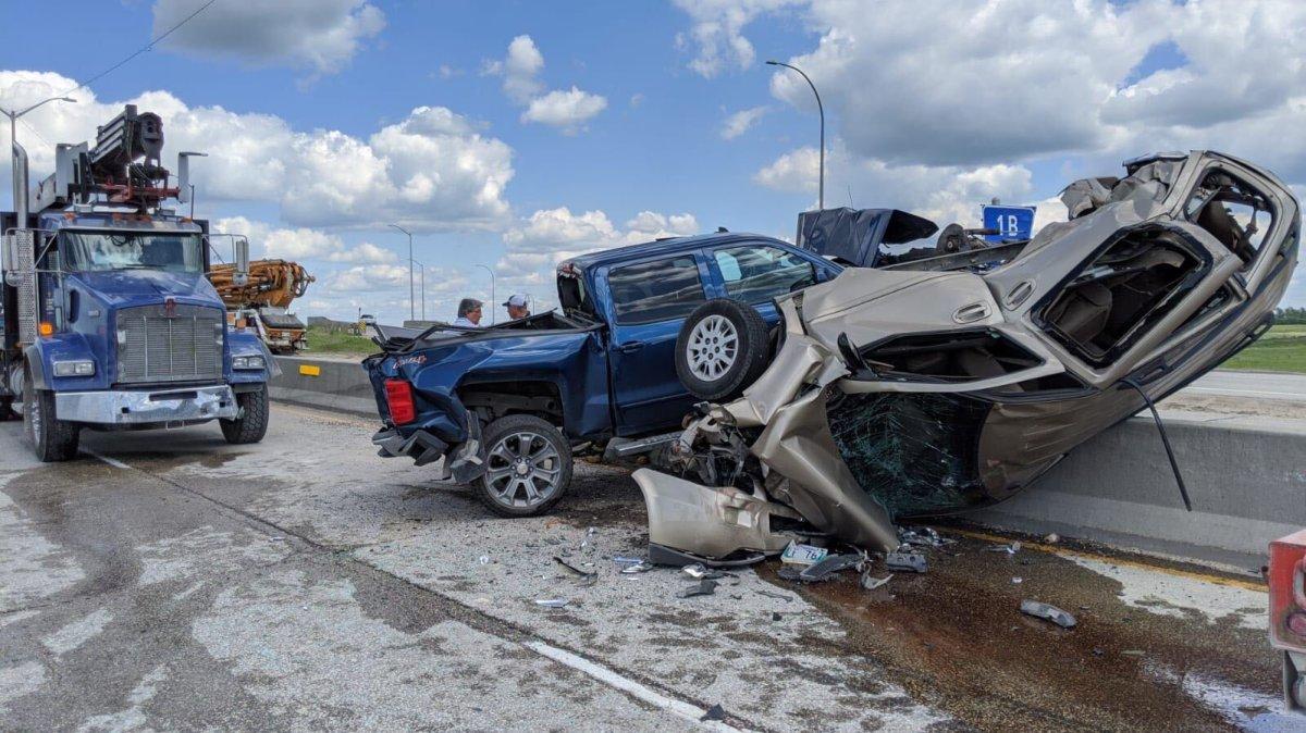 A major crash on the Perimeter Highway near Fermor.