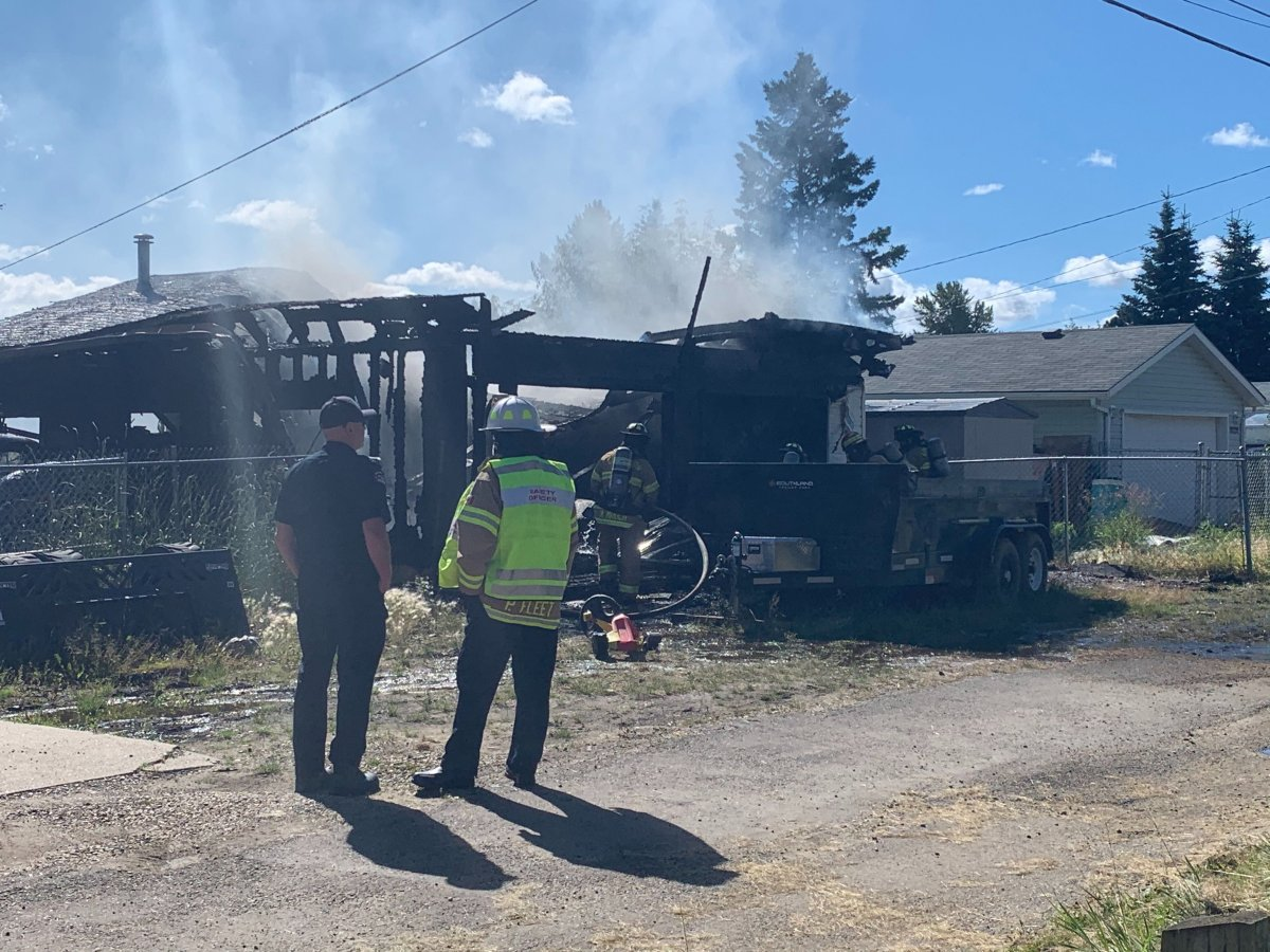 Edmonton fire crews responded to a fire at 102 Avenue and and 159 Street on Saturday, July 25, 2020.