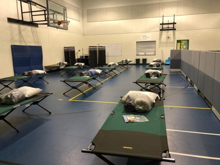 The emergency shelter has 20 cots for teens and youth to spend the night on.