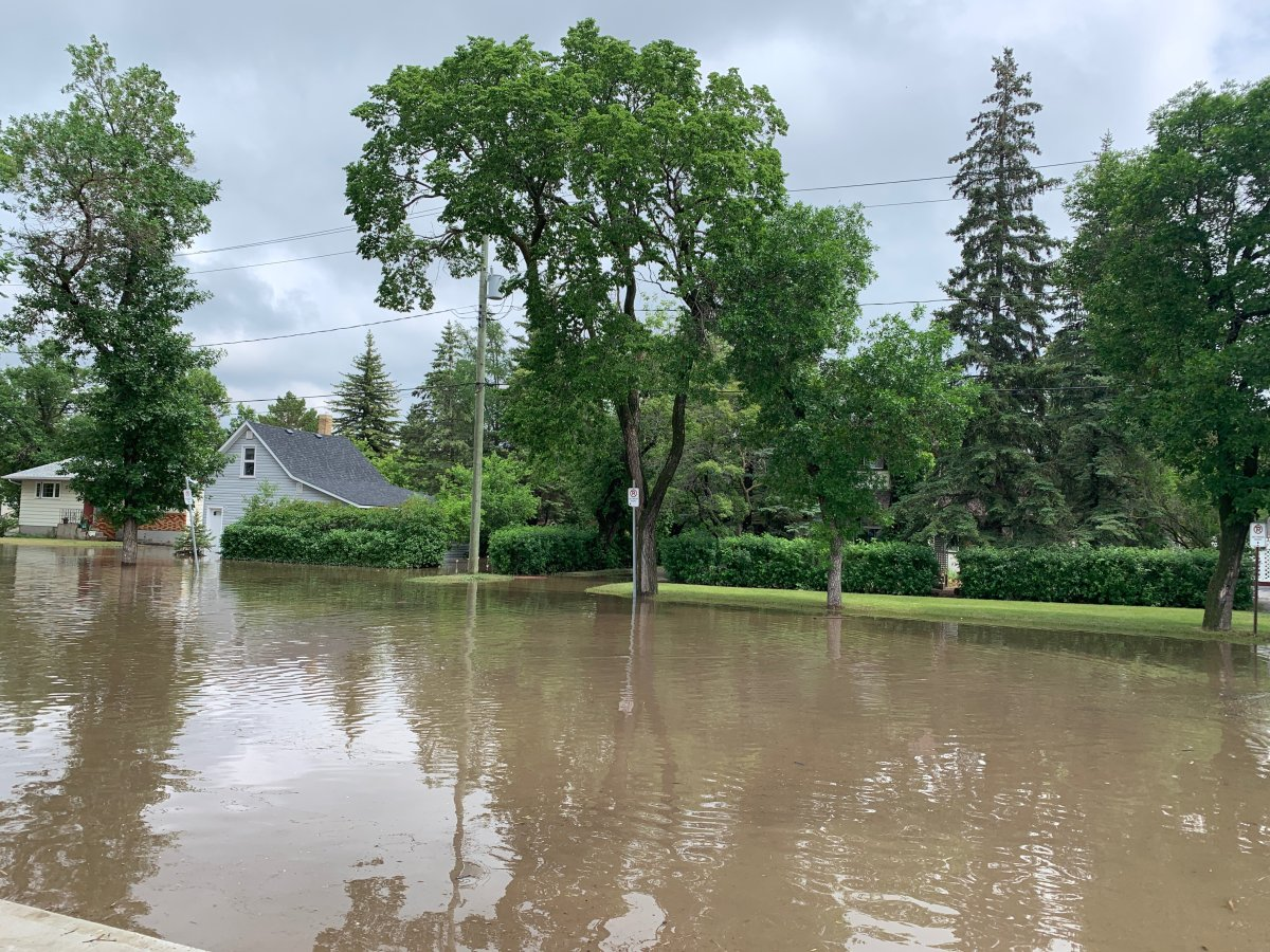 Flooding in Minnedosa.