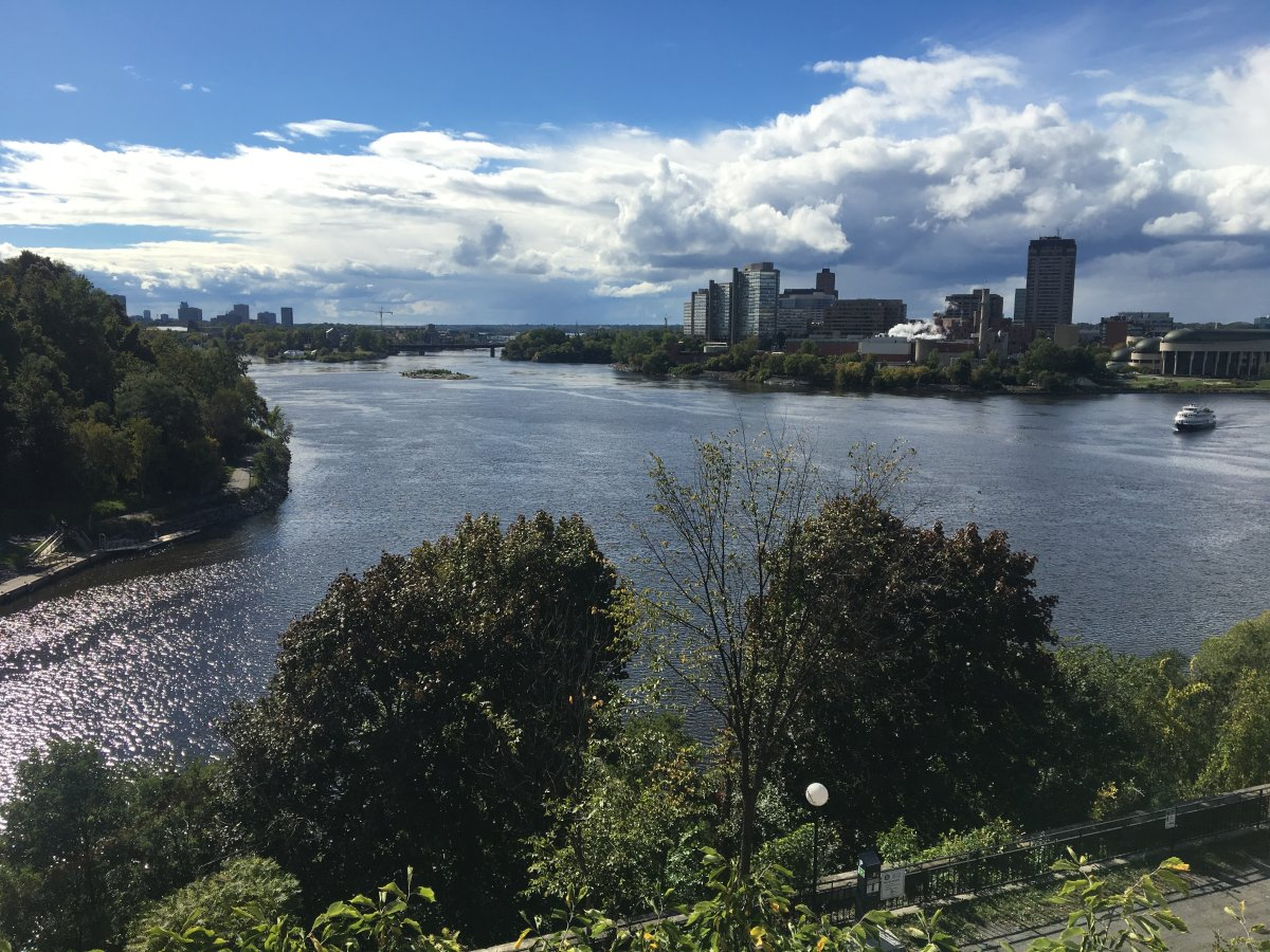 The Ottawa River, as seen from Major's Hill Park.