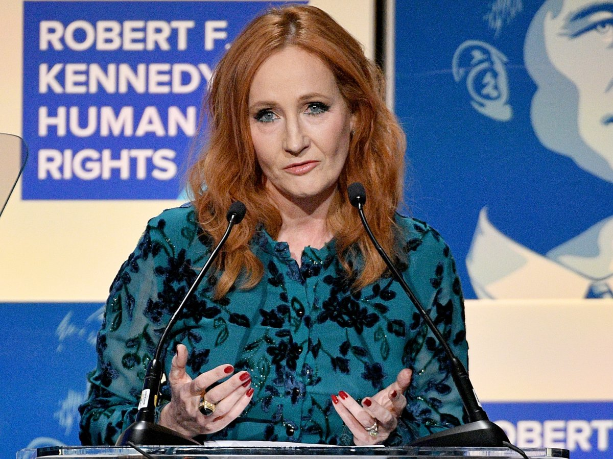 J.K. Rowling speaks onstage at the 2019 RFK Ripple of Hope Awards at New York Hilton Midtown on Dec. 12, 2019 in New York City.