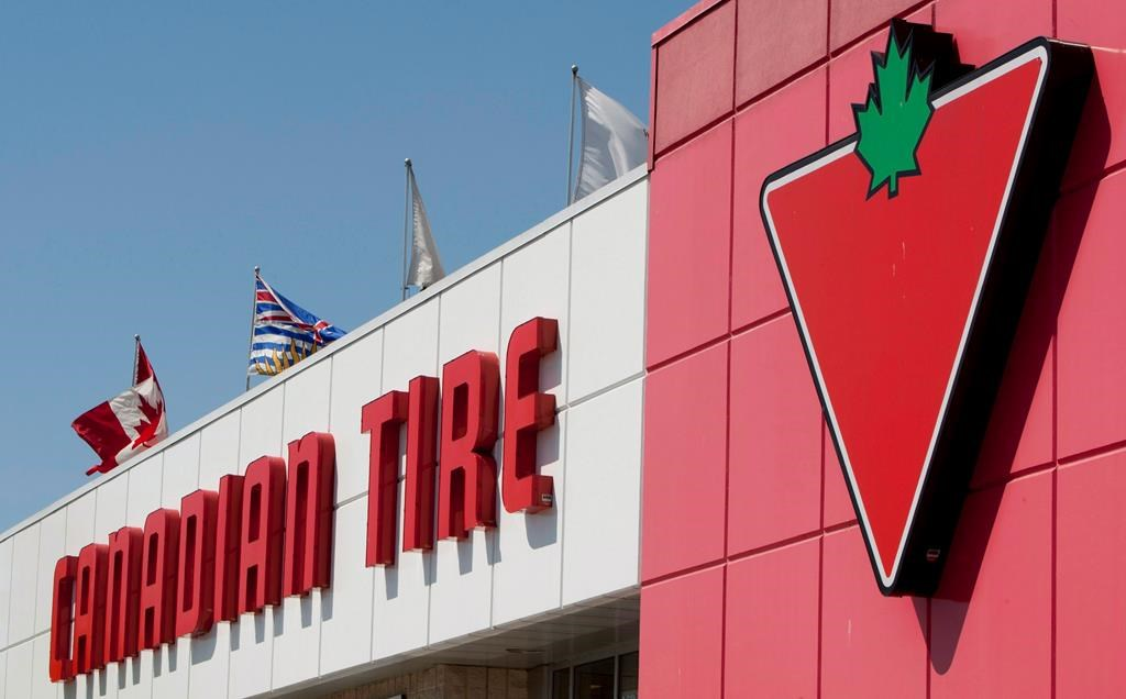 A Canadian Tire store is seen in North Vancouver, B.C. on May 10, 2012. A Canadian Tire outlet in New Brunswick is packing its aisles with Christmas products in the height of summer. A store in Moncton has replaced wicker sofas and parasols with ornaments and artificial trees after a run on outdoor furniture during the COVID-19 pandemic.