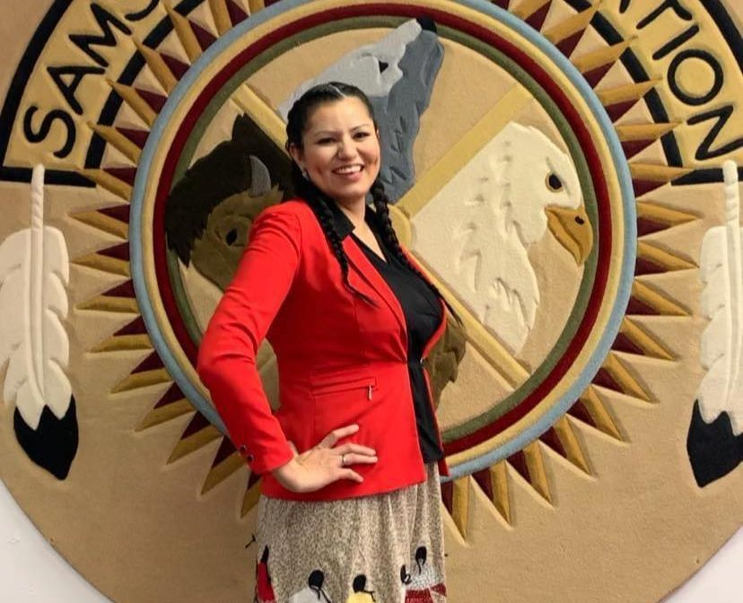 Of the twelve elected councillors representing Samson Cree Nation, half are women.