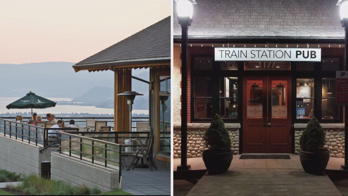 The Tower Ranch Golf Club's restaurant (left) and the Train Station pub (right) are temporarily closed after an employee at each business tested positive for COVID-19 .
