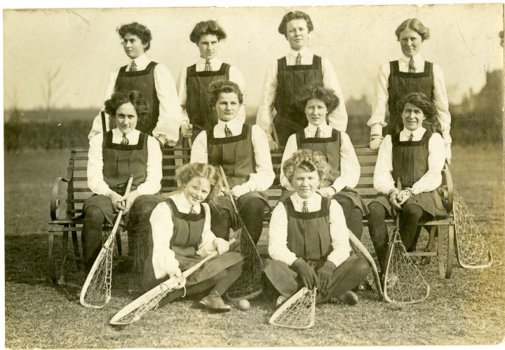 Female teams were rare in this era.