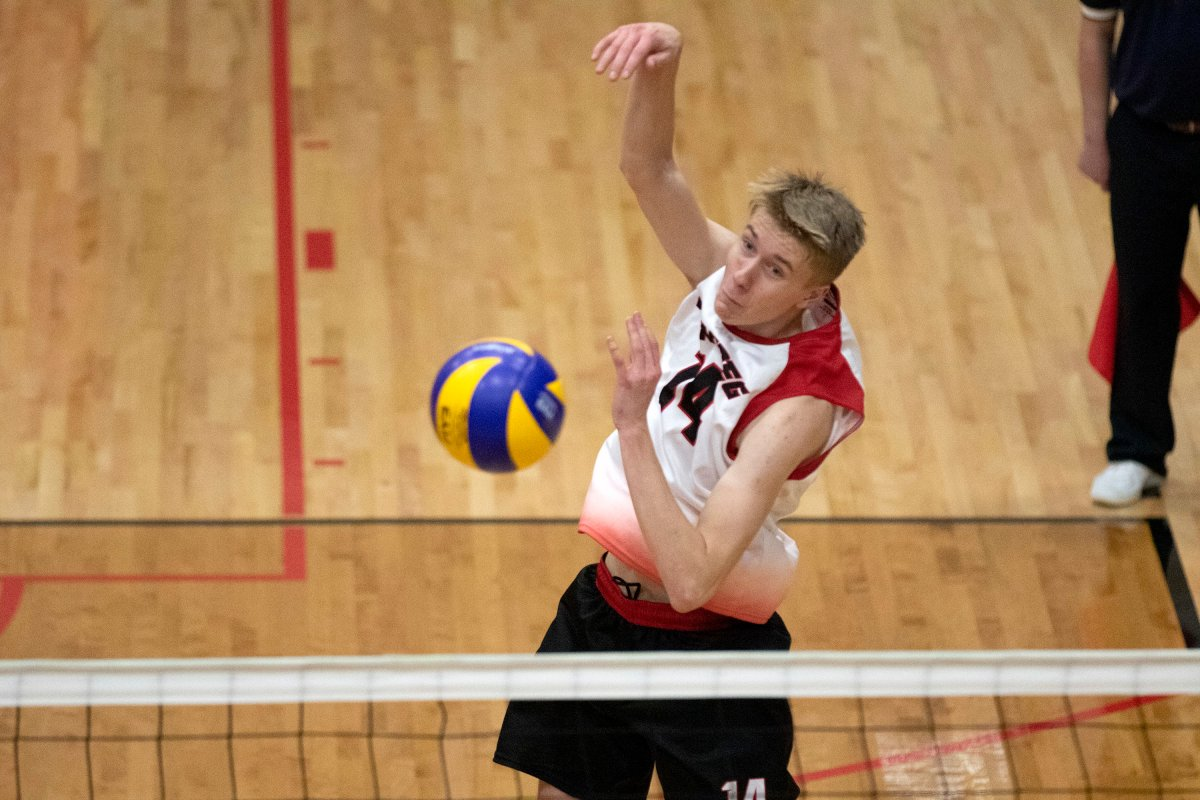 Wesmen left side Liam Kristjanson was named to the Volleyball Canada U21 training roster on Thursday. (David Larkins/Wesmen Athletics file).