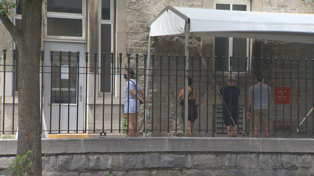 There were long lineups to be tested for COVID-19 in Montreal on Sunday. Jul 12, 2020.