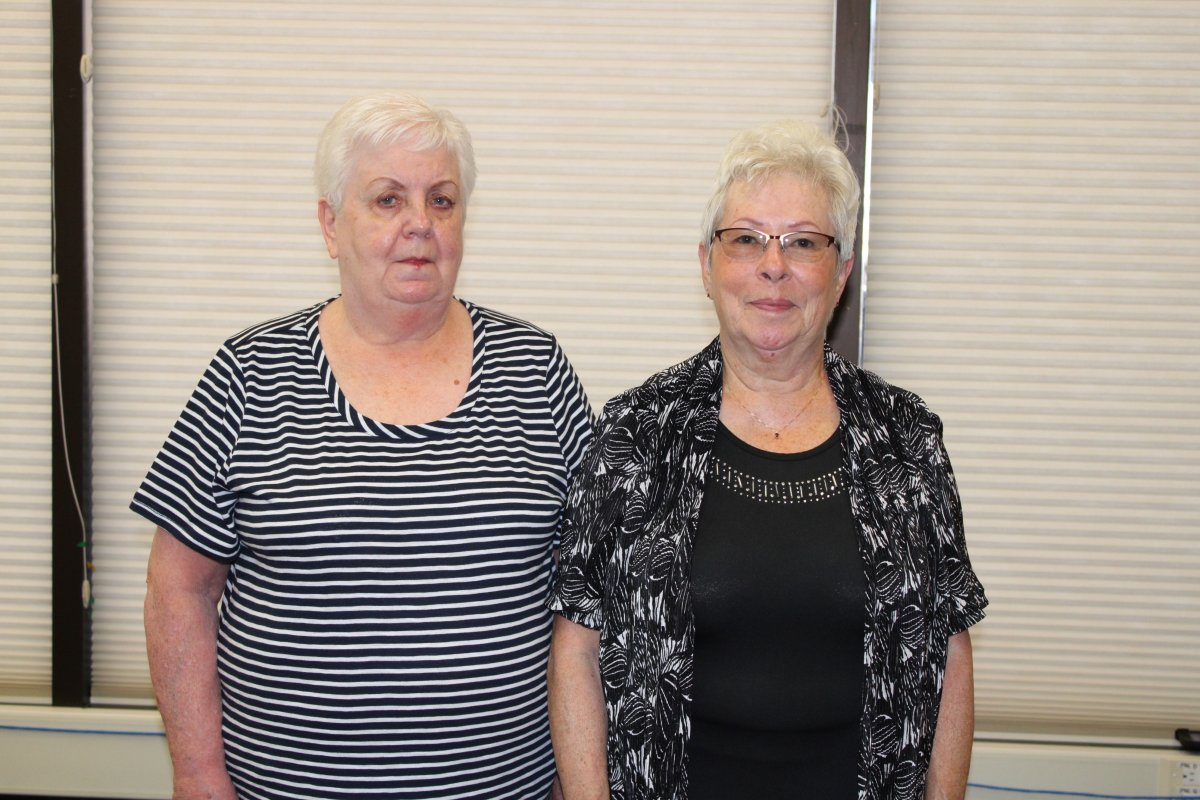 Marie Saltel and Karen Roche are members of a group of six nursing home co-workers who won a $5-million lottery prize.