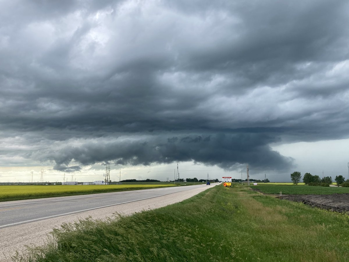 Storm clouds gather just west of Oak Bluff, Man., on Sunday, July 5, 2020.