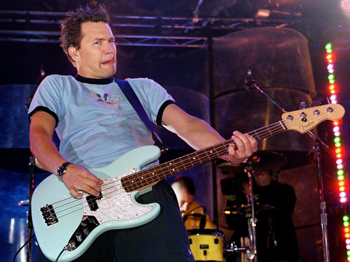 Mark Hoppus of Blink-182 performs at the MuchMusic Video Awards in Toronto on Sept. 21, 2000.