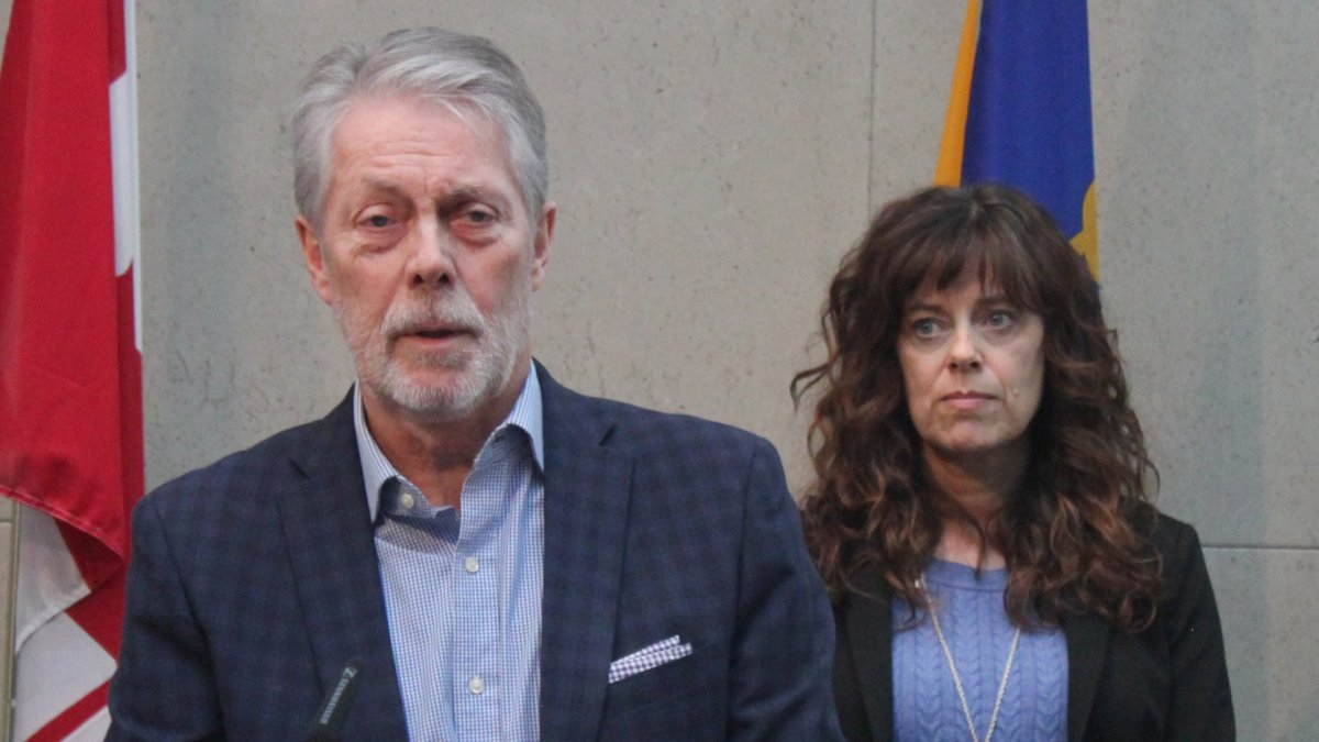 Hamilton Mayor Fred Eisenberger and Medical Officer of Health Dr. Elizabeth Richardson update the media on the effects of COVID-19 in the city on March 13, 2020.