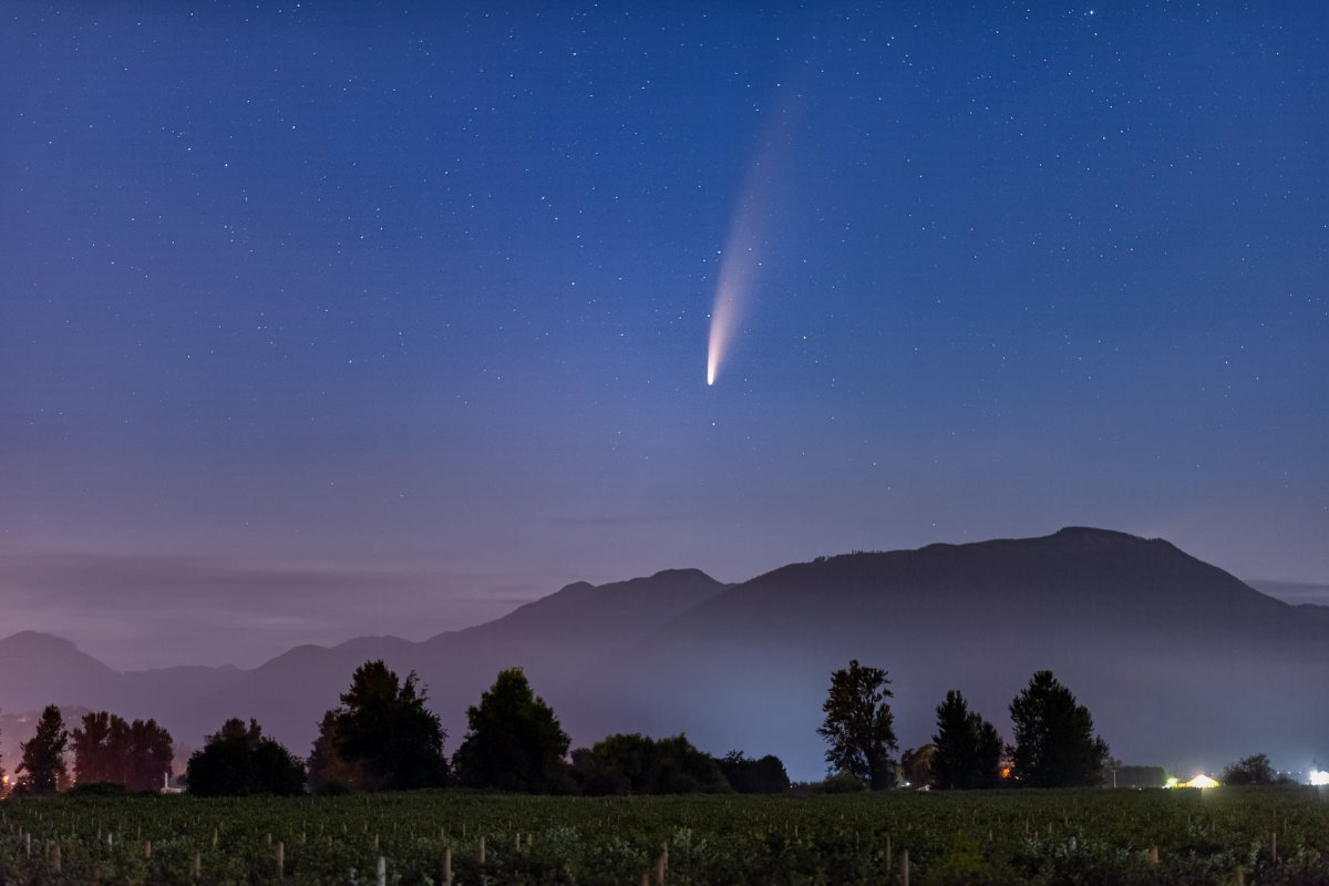 Comet NEOWISE seen over Abbotsford early Saturday morning.