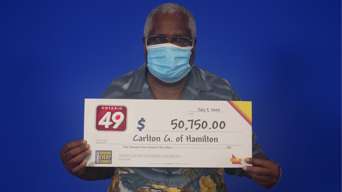 Carlton Graham, 77, says money from the $50,000 he won from the OLG will pay for his grandaughter's education.