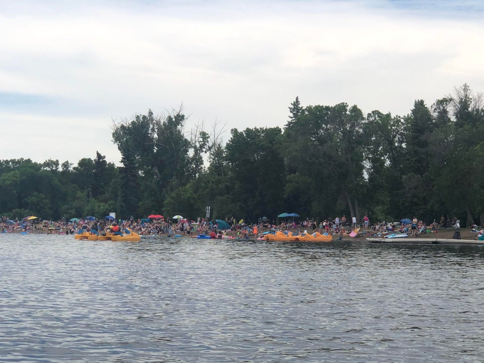 A Reddit user says she took this photo of Pike Lake beach on Saturday, July 4.